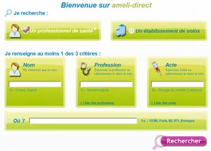 ameli-direct recherche medecin