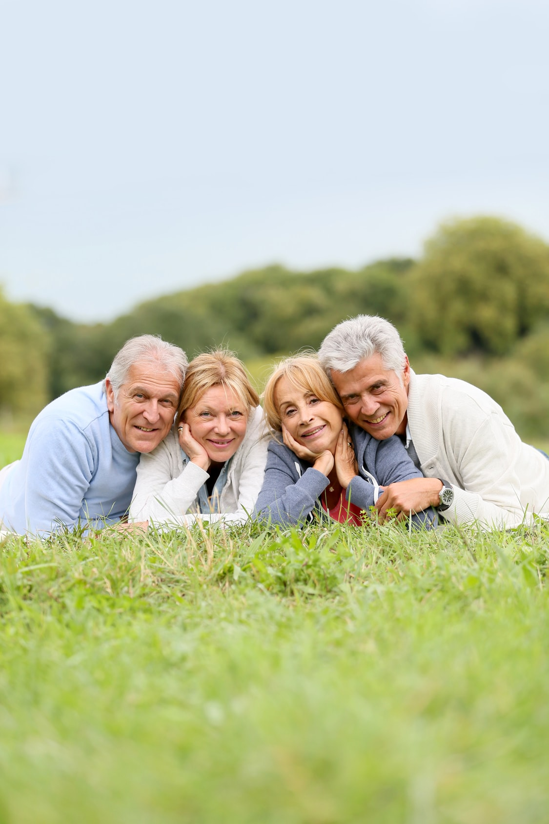 Seniors souriants